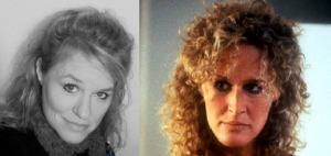 Left is inspiration from New Faces and Right is Glenn Close from Fatal Attraction